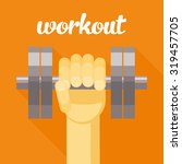 sport  workout illustration ... | Shutterstock . vector #319457705