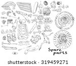 the most popular spare parts ...   Shutterstock .eps vector #319459271