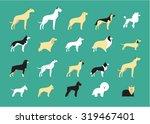 dog breeds illustration | Shutterstock .eps vector #319467401