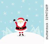 santa enjoying snow | Shutterstock .eps vector #319472609