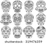 vector collection of doodle day ... | Shutterstock .eps vector #319476359