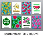 set of hand drawing summer... | Shutterstock .eps vector #319483091