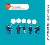 businesspeople meeting. vector... | Shutterstock .eps vector #319483739