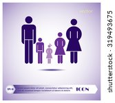 family and clock  graphic... | Shutterstock .eps vector #319493675