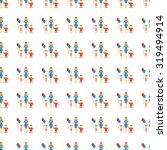family icon seamless pattern ... | Shutterstock . vector #319494914