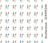 family icon seamless pattern ... | Shutterstock . vector #319495244