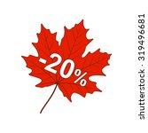 autumn discount 20  | Shutterstock .eps vector #319496681