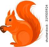 Red Squirrel Vector...
