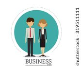 business concept and office... | Shutterstock .eps vector #319511111