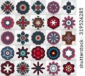 beautiful mandalas. round... | Shutterstock .eps vector #319526285