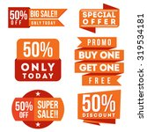 discount and sale ribbons and... | Shutterstock .eps vector #319534181