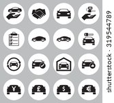 car sale and rental car  icons... | Shutterstock .eps vector #319544789