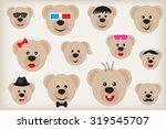 teddy bear pattern.pattern with ... | Shutterstock .eps vector #319545707