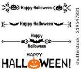 happy halloween  collection of... | Shutterstock .eps vector #319547831