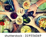 food beverage party meal drink... | Shutterstock . vector #319556069