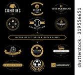 set of vintage  badges and... | Shutterstock .eps vector #319556651