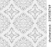 seamless damask pattern in grey.... | Shutterstock .eps vector #319558769