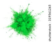 green powder explosion isolated ...   Shutterstock . vector #319561265