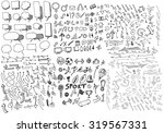 business doodles | Shutterstock .eps vector #319567331
