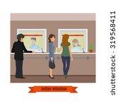 modern technology teller window.... | Shutterstock .eps vector #319568411