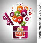big sale discounts and offers... | Shutterstock .eps vector #319572464