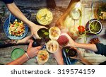 food table healthy delicious... | Shutterstock . vector #319574159