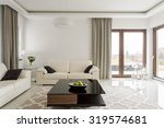 photo of luxurious leather sofa ... | Shutterstock . vector #319574681