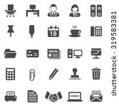 office black icons set.vector | Shutterstock .eps vector #319583381