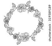 floral frame rose . vintage... | Shutterstock .eps vector #319589189