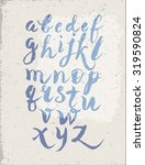 font alphabet written in blue... | Shutterstock .eps vector #319590824