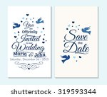 wedding invitation  thank you... | Shutterstock .eps vector #319593344