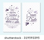 wedding invitation  thank you... | Shutterstock .eps vector #319593395