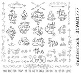 doodles ampersands and... | Shutterstock .eps vector #319601777