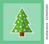 christmas tree icon. flat... | Shutterstock .eps vector #319604264