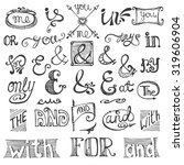 doodles ampersands and...   Shutterstock .eps vector #319606904