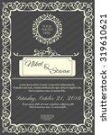 wedding invitation card... | Shutterstock .eps vector #319610621