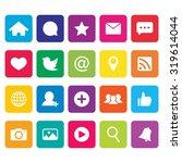 social network icon. social... | Shutterstock .eps vector #319614044