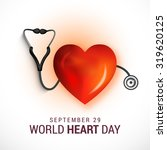 vector illustration world heart ... | Shutterstock .eps vector #319620125