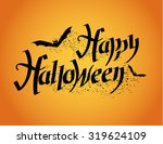 happy halloween. halloween... | Shutterstock .eps vector #319624109