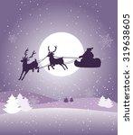 beautiful christmas eve card | Shutterstock .eps vector #319638605