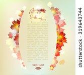 vector illustration of autumn... | Shutterstock .eps vector #319643744