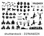 halloween silhouettes | Shutterstock .eps vector #319646024