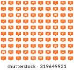 webdesign orange message icons...