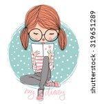 Girl Reading A Book
