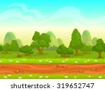 cute cartoon seamless landscape ...