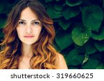 portrait of nice young woman ... | Shutterstock . vector #319660625