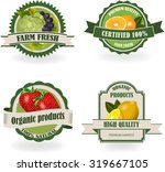 set of healthy and organic... | Shutterstock .eps vector #319667105