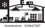 industrial cold store scene  ... | Shutterstock .eps vector #319667207