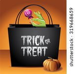 trick or treat halloween bag... | Shutterstock .eps vector #319668659