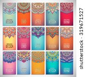 business cards. vintage... | Shutterstock .eps vector #319671527
